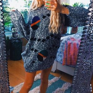 Sweaters - speckled 80s eclectic punk oversized chunky swtr